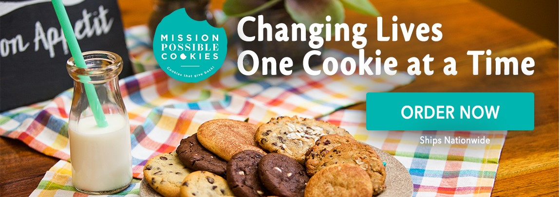 Mission Cookies — Order Today! Mission Cookies celebrates its year anniversary with new recipes and many new poducts. Changing Lives One Cookie at a Time. Order Cookies Now.
